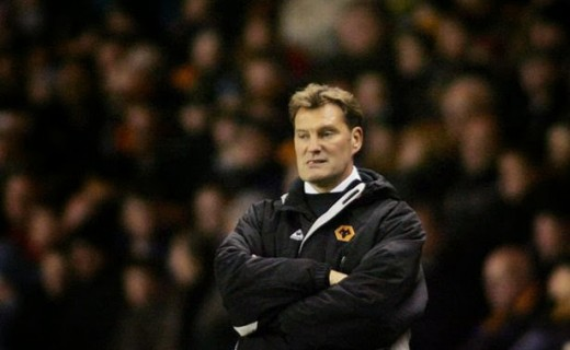 Wolves' manager Glenn Hoddle during the game, Wolverhampton Wanderers v Crewe Alexandra-814578