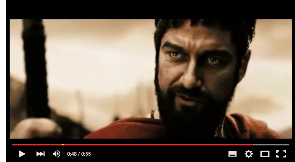 "Vídeo de motivación 67: ""Grito de guerra 300"""
