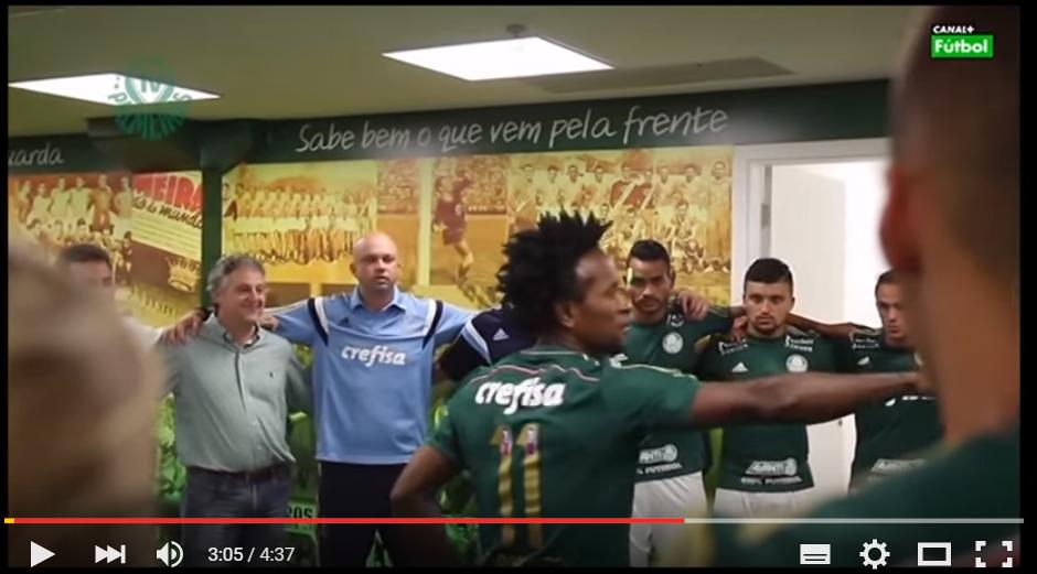 """Vídeo de motivación 69: """"Charla de Ze Roberto en el vestuario del Palmeiras"""""""