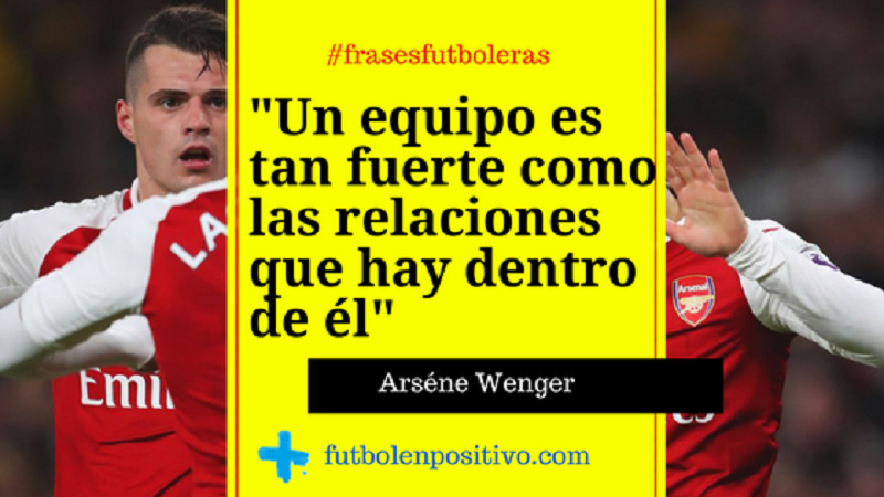 Frase futbolera Arséne Wenger