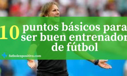 10 puntos básicos para ser un buen entrenador de fútbol