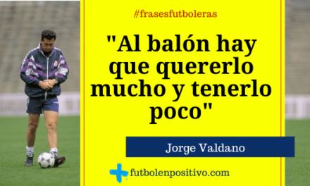 Frase futbolera 26. Jorge Valdano