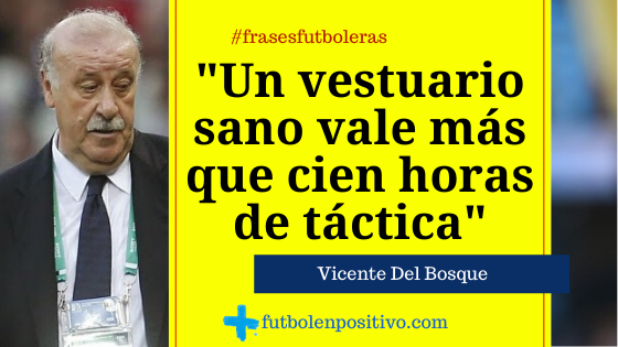 Frase futbolera: Vicente del Bosque II