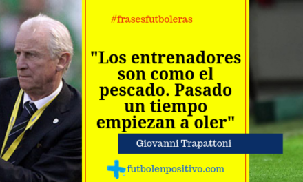 Frase futbolera 37: Giovanni Trapattoni