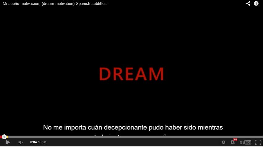 """Vídeo de motivación 42: """"¿Trabajas por conseguir tus sueños?"""""""