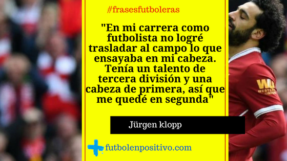 Frase futbolera Jürgen klopp