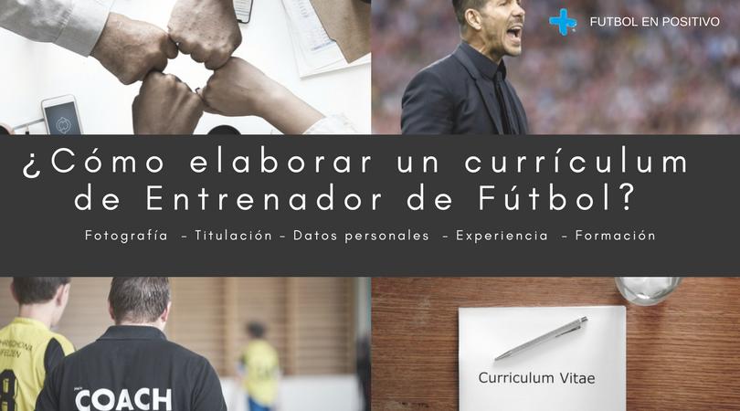 currículum de entrenador de fútbol